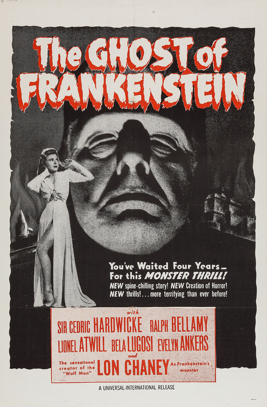 The Ghost of Frankenstein 1950s Re-Release Military One Sheet