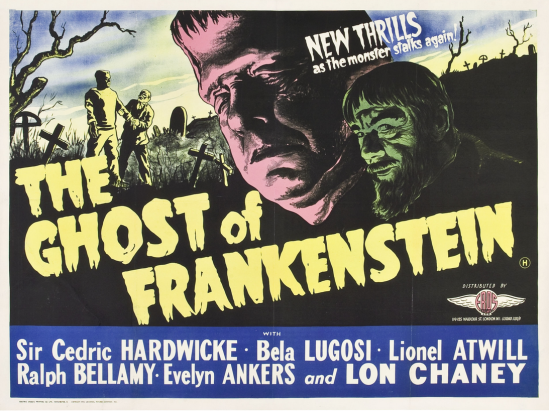 The Ghost of Frankenstein 1950s UK Quad