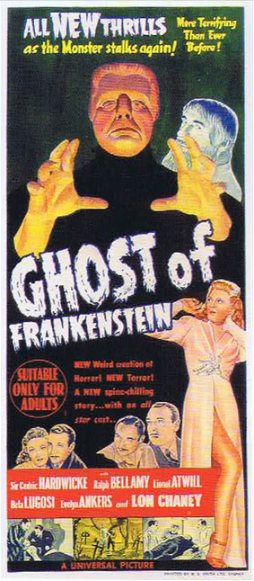 The Ghost of Frankenstein Australian Daybill