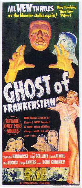 The Ghost of Frankenstein Australian Daybill