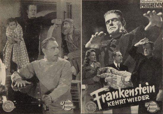 The Ghost of Frankenstein Austrian Cinema Programme 1