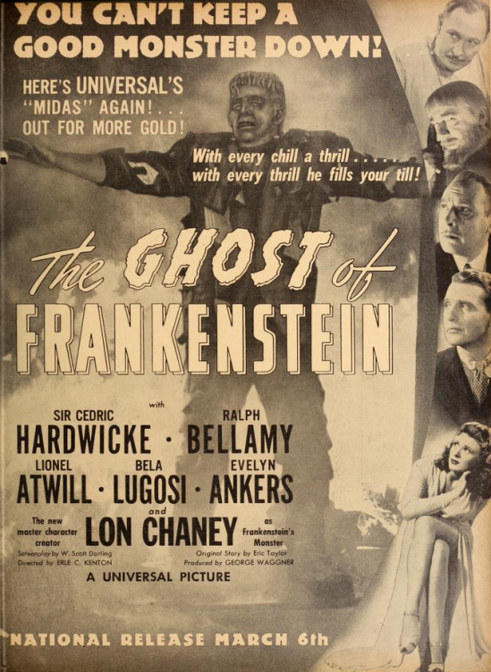 The Ghost of Frankenstein, Film Daily, February 27, 1942