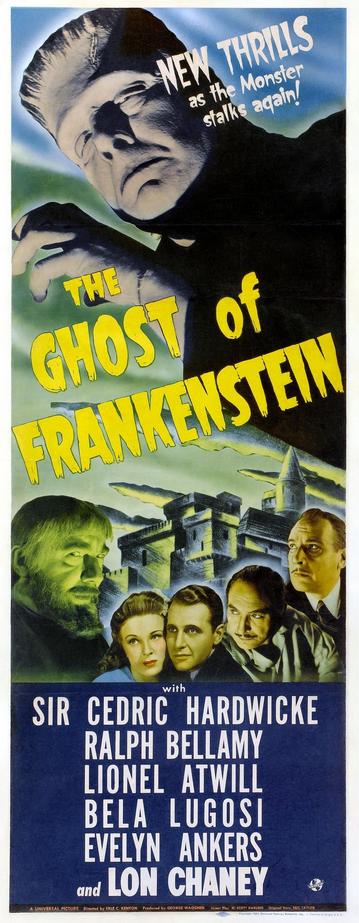 The Ghost of Frankenstein Insert