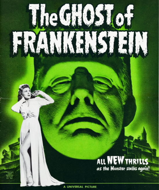 The Ghost of Frankenstein Pressbook 1
