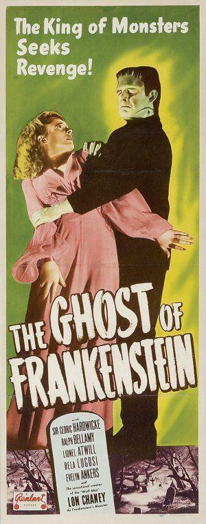 The Ghost of Frankenstein Re-Release Insert