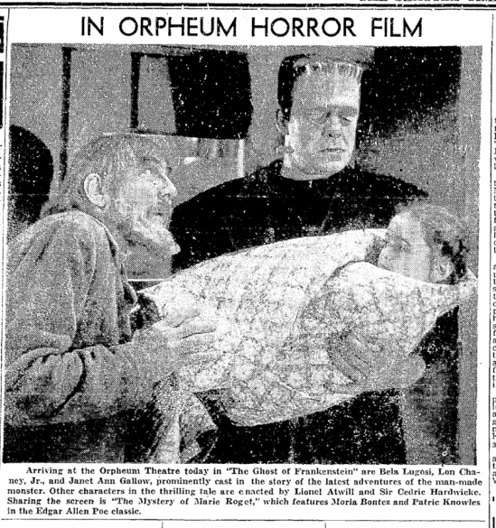 The Ghost of Frankenstein, Seattle Daily Times, June 11, 1942 2
