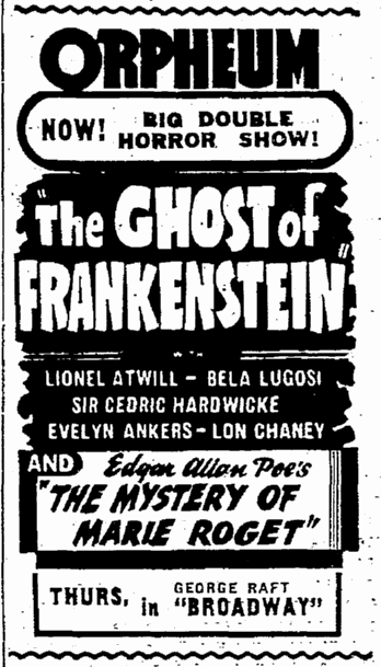 The Ghost of Frankenstein, Seattle Daily Times, June 13, 1942