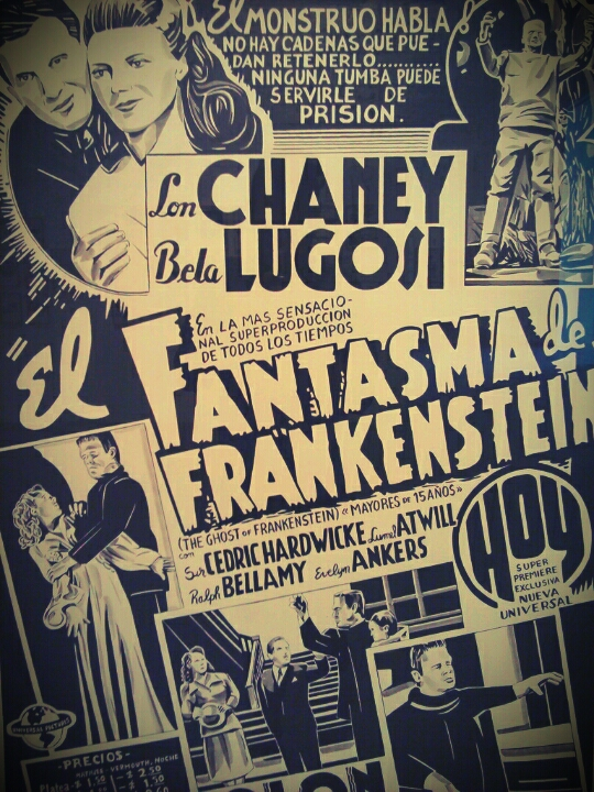 The Ghost of Frankenstein Spanish Language Cinema Advertising