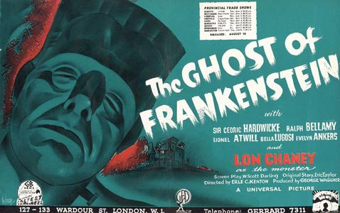 The Ghost of Frankenstein UK trade advertisement.