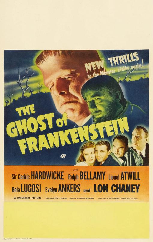 The Ghost of Frankenstein Window Card 2