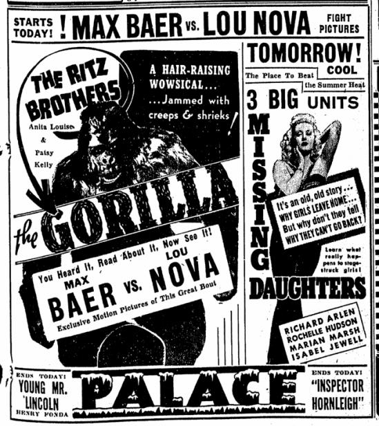 The Gorilla, Canton Repository, June 8, 1939 2