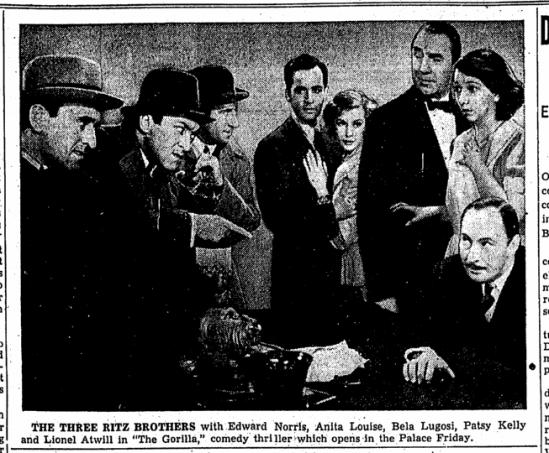The Gorilla, Canton Repository, June 8, 1939