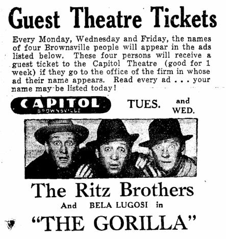 The Gorilla, Heraldo de Brownsville, July 17, 1939