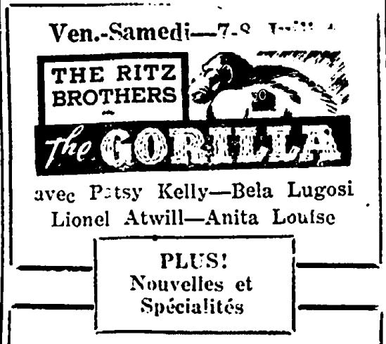 The Gorilla, Justice de Biddeford, July 7, 1939