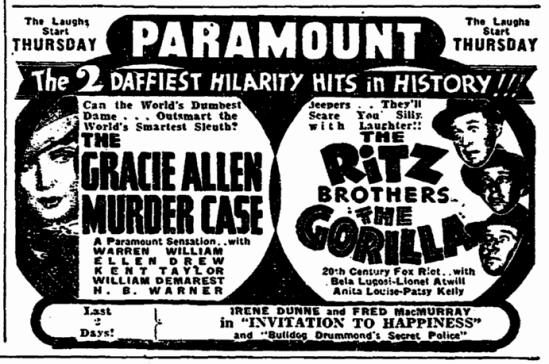 The Gorilla, San Francisco Chronicle, June 6, 1939