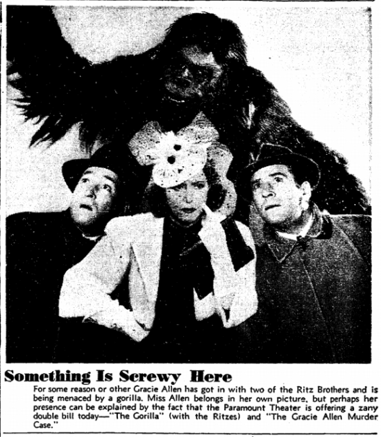 The Gorilla, San Francisco Chronicle, June 8, 1939