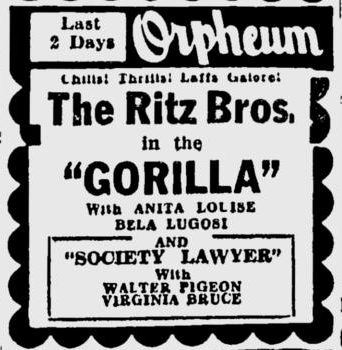 The Gorilla, Spokane Daily Chronicle, June 5 1939 2