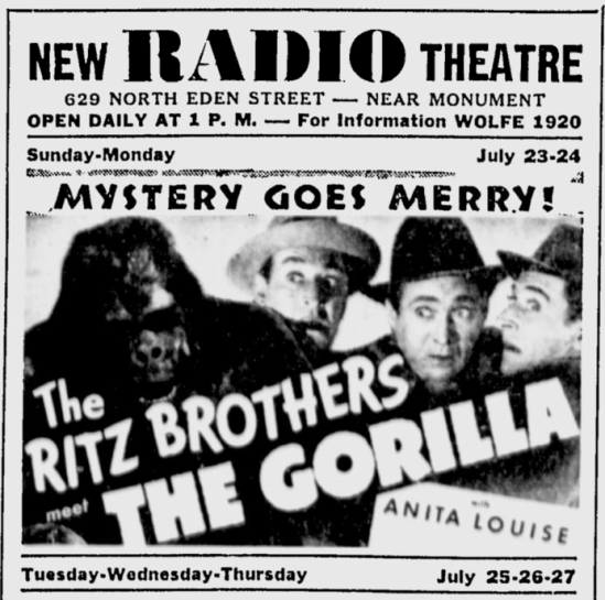 The Gorilla, The Afro-America, July 22, 1939