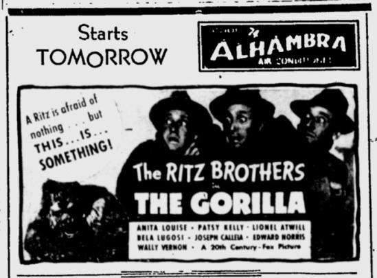 The Gorilla, the Kentucky New Era, July 20, 1939
