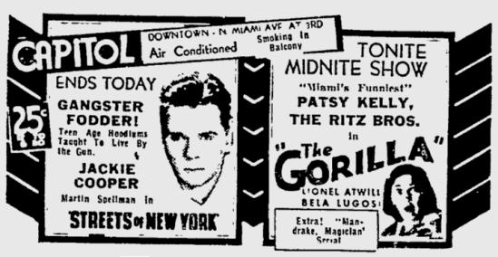 The Gorilla, The Miami News, June 3, 1939