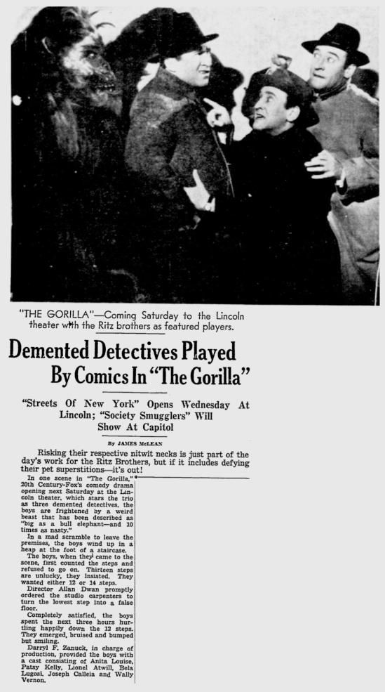 The Gorilla, The Miami News May 14 1939