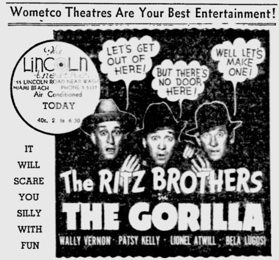 The Gorilla, The Miami News, May 19 1939