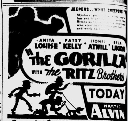 The Gorilla, The Pitsburgh Post-Gazette, May 17, 1939