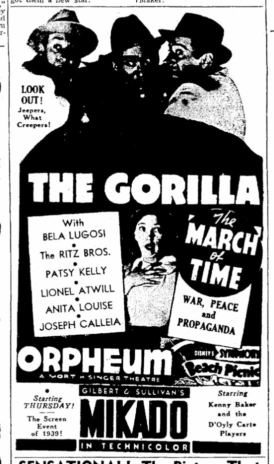 The Gorilla, The Times-Picayune, June 11, 1939