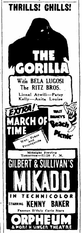 The Gorilla, The Times-Picayune, June 9, 1939