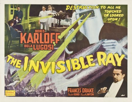 The Invisible Ray 1948 Re-Release Lobby Card 1