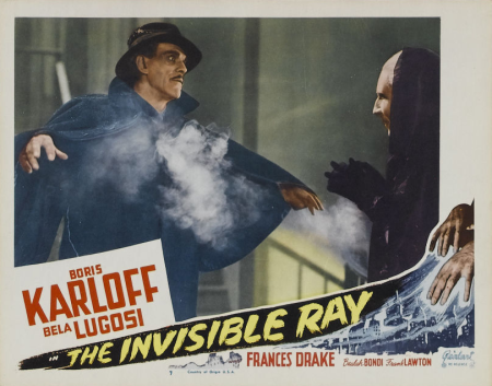 The Invisible Ray 1948 Re-Release Lobby Card 2