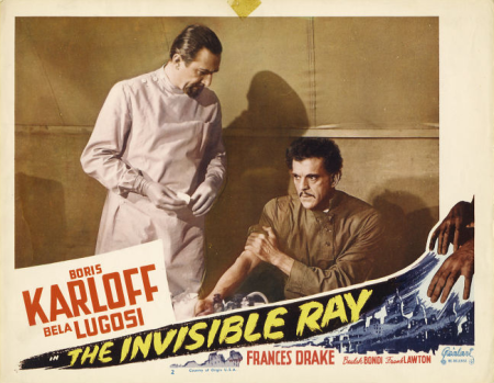 The Invisible Ray 1948 Re-Release Lobby Card 3