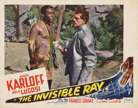 The Invisible Ray 1948 Re-Release Lobby Card 4