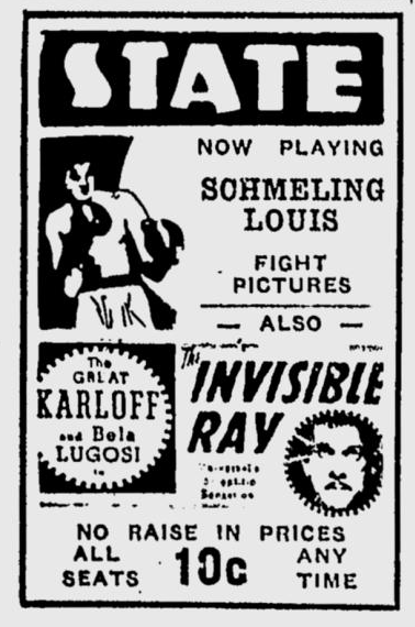 The Invisible Ray, Eugene Register-Guard, July 31, 1936