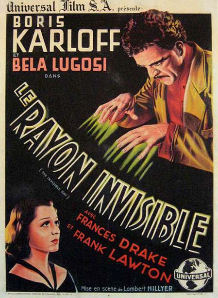 2 posters of France ray invisible