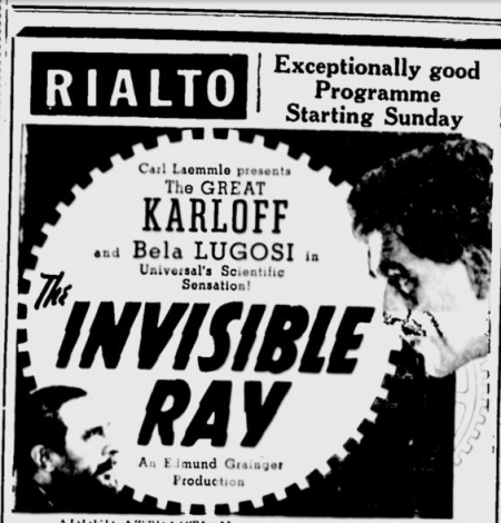 The Invisible Ray, The St. Maurice Valley Chronicle, July 2, 1936