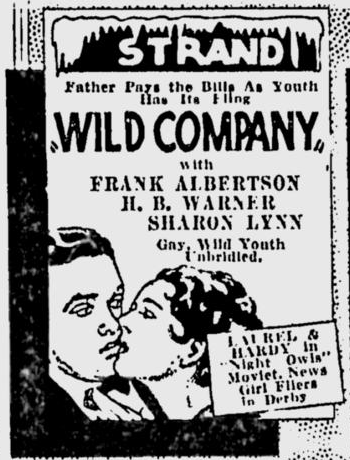 Wild Company, The Milwaukee Sentinel, August 24, 1930 1