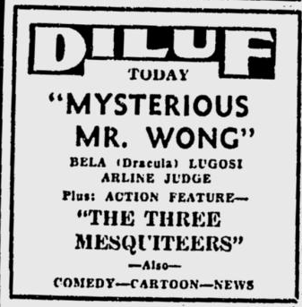 The Mysterious Mr Wong, The Spokesman Review, December 1, 1936