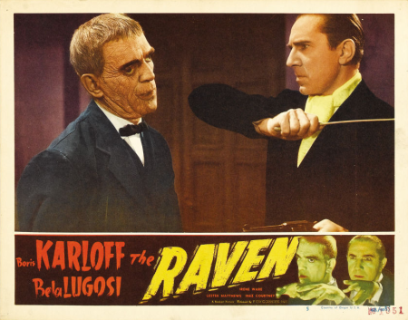 The Raven 1948 Re-Release Lobby Card 1