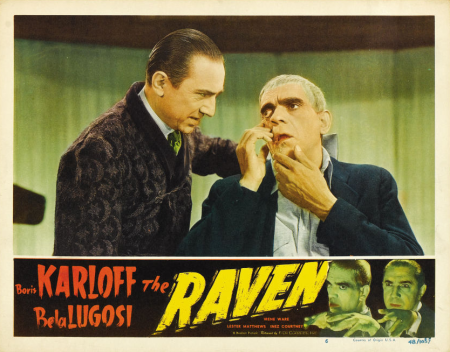 The Raven 1948 Re-Release Lobby Card 2