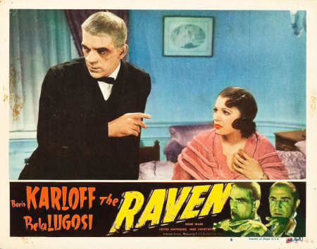The Raven 1948 Re-Release Lobby Card 3