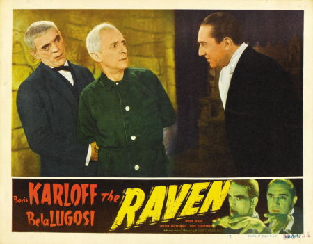 The Raven 1948 Re-Release Lobby Card 4