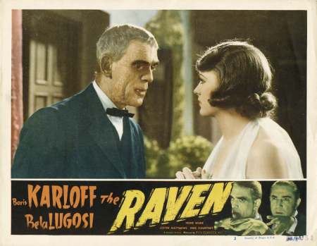The Raven 1948 Re-Release Lobby Card 5