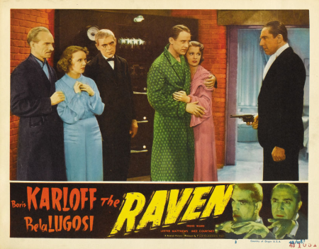The Raven 1948 Re-Release Lobby Card 6