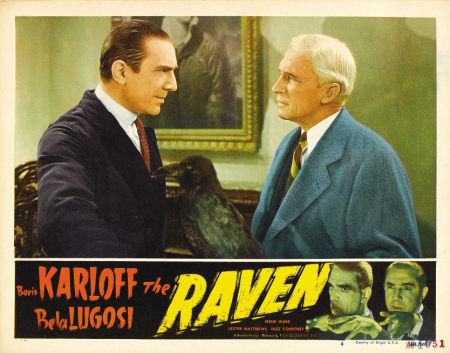 The Raven 1948 Re-Release Lobby Card 7