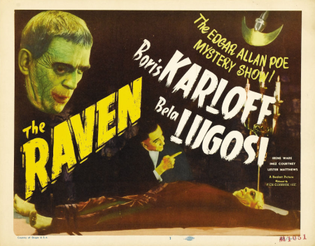The Raven 1948 Re-Release Lobby Card