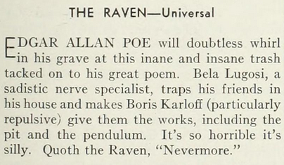 The Raven, Photoplay Magazine, September, 1935