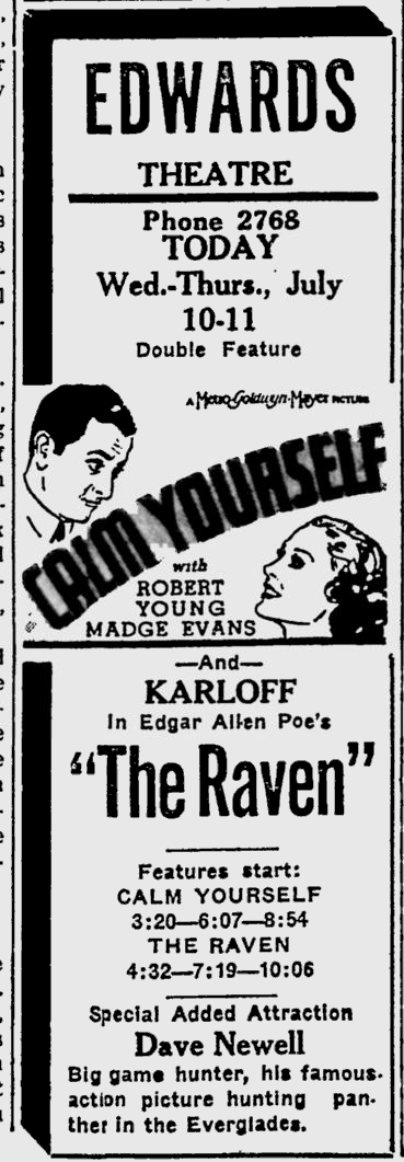 The Raven, Sarasota, Herald-Tribune, July 11, 1935 b