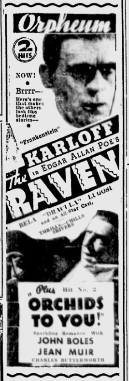 The Raven, Spokane Daily Chronicle, August 6, 1935
