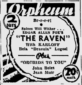 The Raven, Spokane Daily Chronicle, August 9, 1935